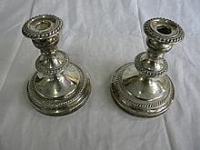 Pair of antique Silver Candle Holders