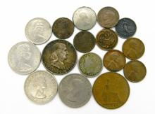 Lot of 16 US and Foreign Coins