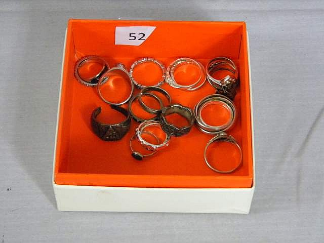 Lot of 20 Sterling Silver Ladies Rings