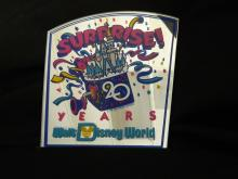 Very Rare Walt Disney World SURPRISE 20 Years Anniversary 1991 Executive Award Prop Display Sign