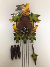 Rare Authentic and Colorful A. Schneider German Cuckoo Clock.