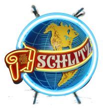 Vintage 1970's Schlitz World Neon Beer Sign