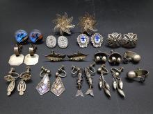 Remarkable Antique & Vintage Sterling Silver Earrings
