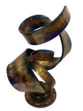 Rare Signed Shlomi Haziza Acrylic Art Sculpture with Stand