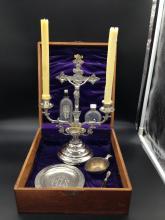 Circa 1897 Sick Call Last Rites Crucifix Kit