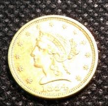 1854 $1 Gold piece