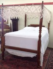 Early American Maple Rope bed with full Tester