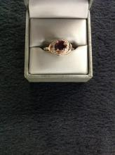 14k gold ring w/Ruby with Diamond