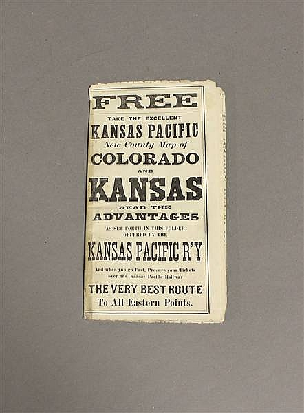RAILROAD TIMETABLE AND MAP KANSAS PACIFIC MARCH 1879