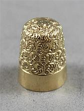 STAMPED 14K YELLOW GOLD THIMBLE, 4.8 GRAMS