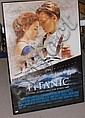 AUTOGRAPHED TITANIC MOVIE POSTER, SIGNED BY 6 CAST MEMBERS, INCLUDING DATE WINSLET & LEONARDO DICAPRIO, WITH CERT. 27 X 39