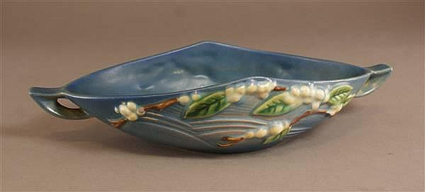 ROSEVILLE SNOWBERRY BLUE CONSOLE BOWL