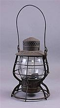 N & W RAILROAD LANTERN, ADAMS & WESTLAKE CO. 10 1/2