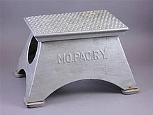 MO. PAC. RY STEEL PASSENGER CAR STEP STOOL