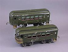 LIONEL PRE WAR STANDARD GAUGE #35 PULLMAN AND #36 OBSERVATION