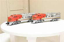 LIONEL POST WAR #2333 SANTA FE F3AA SET