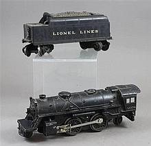 LIONEL POST WAR #2034 STEAM ENGINE AND #6066T TENDER