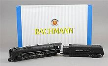 BACHMANN HO NIAGARA 4-8-4 WITH SMOKE AND HEADLIGHT ENGINE & TENDER, NYC #6005 IN ORIGINAL BOX