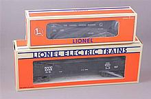 LIONEL MODERN ERA #6209 NYC GONDOLA WITH COAL LOAD AND #16433 6456-3 2 BAY HOPPER, IN ORIGINAL BOX