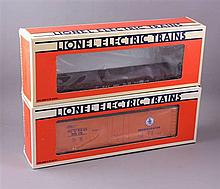 LIONEL MODERN ERA #9815 NYC REEFER AND #6521 NYC FLAT CAR IN ORIGINAL BOXES