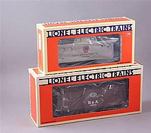LIONEL MODERN ERA #19727 PRR CABOOSE AND #6920 NYC/B&A; CABOOSE, IN ORIGINAL BOX