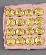 (16) PRR TRAINMENT BRASS BUTTONS 9/16