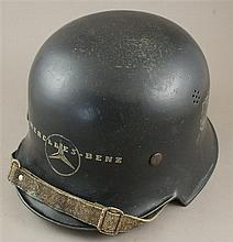 MERCEDES BENZ FACTORY M-34 HELMET W/REMOVED POLICE DECALS