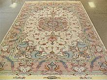 FINE PERSIAN TABRIZ SILK & WOOL