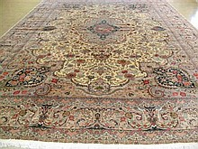 FINE PERSIAN TABRIZ SILK & WOOL SIGNED