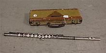 ROTH SILVER TONE FLUTE WITH CASE