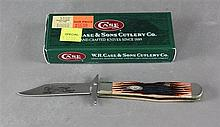 2007 CASE CHEETAH CUB 6111/2L SS JIGGED BONE TYPE HANDLE WITH ORIGINAL BOX, NEVER USED -