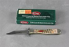2007 CASE KNIFE CHEETAH CUB 6111/2L SS JIGGED BONE TYPE HANDLE WITH BOX, NEVER USED