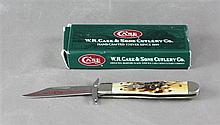 2006 CASE KNIFE CHEETAH CUB 5111/2L SS STAG HANDLE WITH ORIGINAL BOX, NEVER USED
