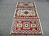 3 INDO CAUCASIAN KAZAK , EACH MEASURE 2.1' X 3.1'