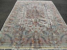 FINE PERSIAN TABRIZ SILK AND WOOL, 6.6 X 9.9