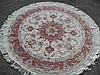 FINE PERSIAN TABRIZ SILK AND WOOL, ROUND, 5 X 5