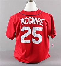 SIGNED MAJOR LEAGUE BASEBALL SHIRT CARDINALS, MARK MCGUIRE