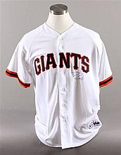 SIGNED MAJOR LEAGUE BASEBALL SHIRT GIANTS, BARRY BONDS