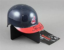 SIGNED MINIATURE CLEVELAND INDIAN HAT, OMAR VISQUIEL