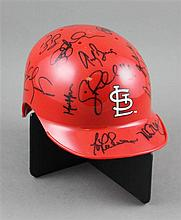TEAM SIGNED MINIATURE ST LOUIS CARDINALS HAT
