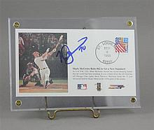 SIGNED MARK MCGUIRE #62 HOMERUN ENVELOPE, ENCASED