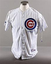 SIGNED MAJOR LEAGUE BASEBALL SHIRT, CUBS SAMMY SOSA