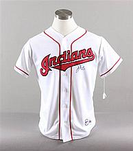 SIGNED MAJOR LEAGUE BASEBALL SHIRT INDIANS, JIM THORNE