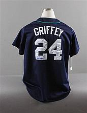 SIGNED MAJOR LEAGUE BASEBALL SHIRT, MARINERS KEN GRIFFIN JR