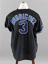 SIGNED MAJOR LEAGUE BASEBALL SHIRT, RANGERS ALEX RODRIQUEZ