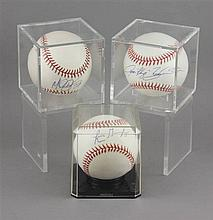(3) SIGNED BASEBALLS IN CASES, IVAN
