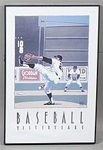 FRAMED 'BASEBALL  YESTERYEARS