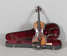VIOLIN INCLUDING 2 BOWS AND HARD CASE