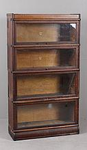 OAK FOUR SECTION BARRISTER BOOKCASE BY MACEY