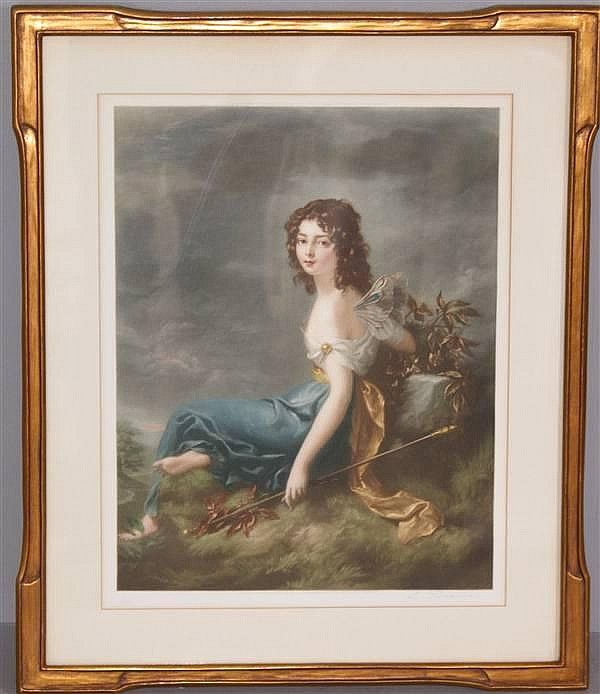 LOUIS BUSIERE (1880-? FRENCH) PENCIL SIGNED LITHOGRAPH PORTRAIT OF A FAIRY, 20
